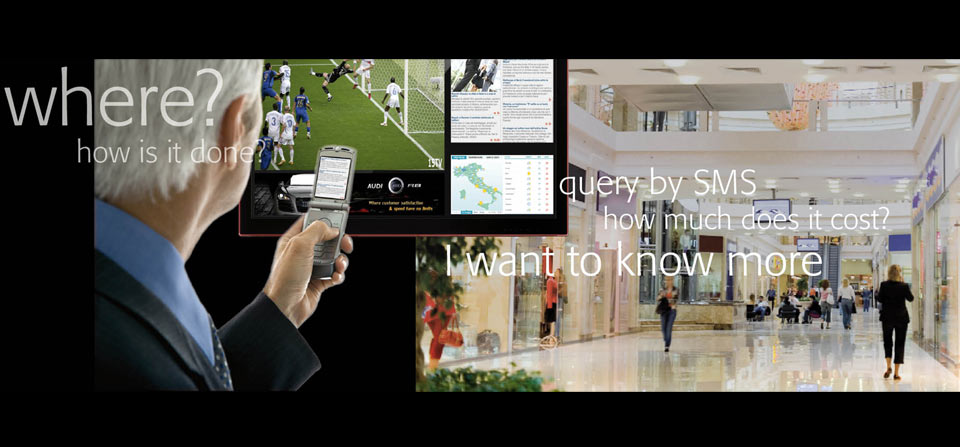 The interactive digital signage